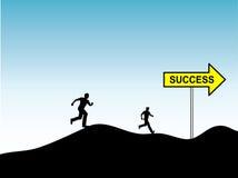 Rennen für Erfolg Stockbild