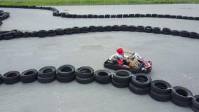 Rennen Kart im Freien stock footage