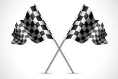 Rennen-Markierungsfahne lizenzfreie abbildung