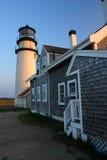 Rennen-Punkt-Leuchte ist ein historischer Leuchtturm auf Cape Cod, Massachusetts lizenzfreies stockfoto
