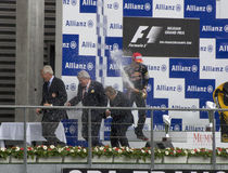 Rennen-Sieger der Formel-1 Lizenzfreies Stockbild