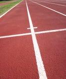 Rennen-Spur im Stadion Lizenzfreie Stockbilder