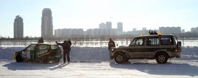 Rennen-Sterne in Moskau Lizenzfreie Stockfotos