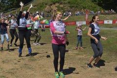 Rennen von Helden projektieren aufgrund von dem höchsten Militär und der Ingenieurschule Lizenzfreies Stockfoto