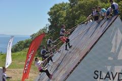 Rennen von Helden projektieren aufgrund von dem höchsten Militär und der Ingenieurschule Stockbilder