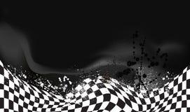 Rennen, Zielflaggehintergrund Stockfoto
