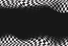 Rennen, Zielflaggehintergrund Stockbild