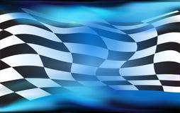 Rennen, Zielflaggehintergrund Lizenzfreies Stockbild