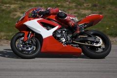 Rennende Motorfiets Stock Foto's