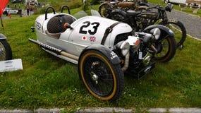 Rennende motorfiets met drie wielen, BMW Royalty-vrije Stock Afbeelding
