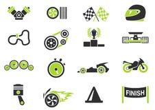 Rennende pictogrammen Stock Foto