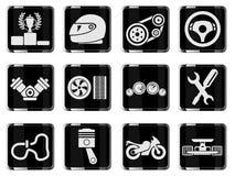 Rennende pictogrammen Stock Foto's