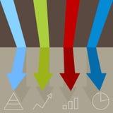 Rennende Pijlengrafiek Stock Afbeelding