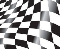 Rennende vlag stock illustratie