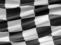 Rennende vlag Stock Foto's