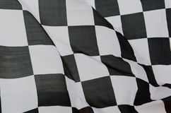Rennende vlag stock afbeelding