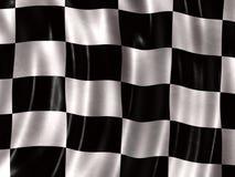 Rennende vlag Royalty-vrije Stock Foto