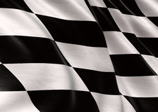 Rennende vlag Stock Foto