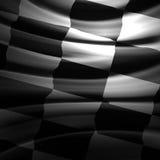 Rennende vlag Royalty-vrije Stock Foto's