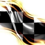 Rennende vlag Royalty-vrije Stock Afbeelding