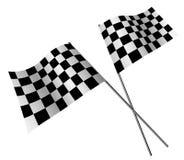 Rennende vlaggen Stock Foto's