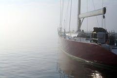 Rennende Zeilboot Stock Foto