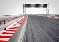 Rennenkreisläuf-Ziellinieperspektive Lizenzfreie Stockbilder