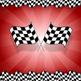 Rennenmarkierungsfahne Lizenzfreies Stockbild