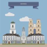 Rennes, Γαλλία απεικόνιση αποθεμάτων