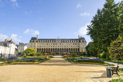Rennes. (Ille-et-Vilaine, Brittany, France) - Ancient Saint-George Palace, exterior and garden Royalty Free Stock Images