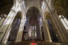 Rennes. (Ille-et-Vilaine, Brittany, France) - Ancient Sainte-Anne church, interior Stock Image