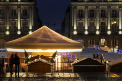 Rennes' carousel in the middle of place du Parlement-De-Bretagne Royalty Free Stock Photo