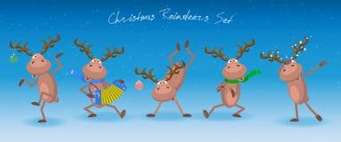 Rennes de Noël réglés Calibre de vecteur pour Chrismas ou nouveau voix pour illustration stock