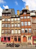 Rennes. Half timbered medieval houses in Rennes Royalty Free Stock Image