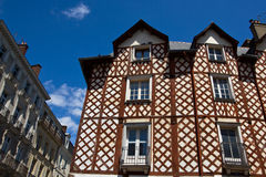 Rennes historic buildings. The half timbered houses of Rennes, Brittany (Bretagne), France, in his old town center Royalty Free Stock Photo