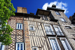 Rennes, historic buildings. The historic half timbered buildings of Rennes, Brittany, Northern France Royalty Free Stock Photo