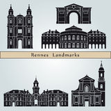 Rennes landmarks and monuments Royalty Free Stock Images