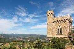 Rennes le chateau city, magdala tower Stock Photos
