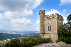 Frankrike slott Rennes le Chateau Arkivfoton