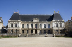 Rennes Parliament building. The regional Parliament building of Brittany, Rennes, France.  This 17th century landmark is now used as a Court Royalty Free Stock Photo