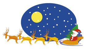 rennes Santa Images libres de droits