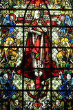 Rennes, stained glass Stock Images