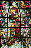 Rennes, stained glass window. Rennes (Ille-et-Vilaine, Brittany, France) - Ancient Saint-Georges church, interior: stained glass window (early 20th century Stock Photos