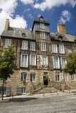 Rennes timbered buildings stock photography