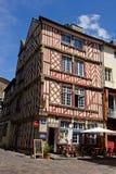 Rennes - vieux centre de ville Image stock