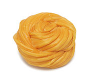 Rennet cheese, isolated Stock Photos