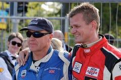 Rennfahrer Lord Gregory Thornton und Claus Bertelsen lizenzfreie stockfotografie