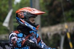 Rennfahrergeländefahrzeug-Laufrennen Stockfotos