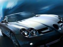 Rennläufer Mercedes-SLR vektor abbildung
