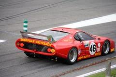 Rennod Ferrari que compite con 512 BB/LM Fotografía de archivo libre de regalías